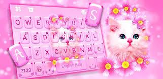 <b>Pink Flowers</b> Kitten Keyboard Theme - Apps on Google Play