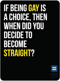 if being gay is a choice, when did you decide to become straight ...