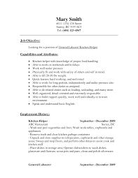 kitchen helper job description resume sample kitchen helper resume