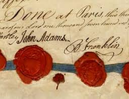 「on September 3, 1783, the Treaty of Paris was signed,」の画像検索結果