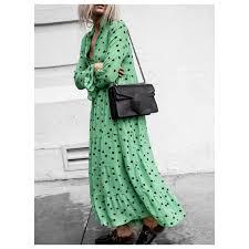 <b>New Autumn</b> Runway Women <b>Vintage</b> Floral Printing Lace-up Slim ...