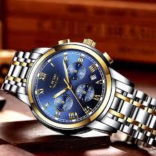 2018 <b>New Watches Men</b> Luxury Brand <b>LIGE</b> Chronograph <b>Men</b> ...