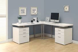medium size of desk alluring computer desks white l shape wood construction gray finish metal alluring gray office desk