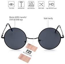 KINDOYO <b>Retro</b> Round <b>Sunglasses</b> Circle <b>Vintage Goggles</b> UV400 ...
