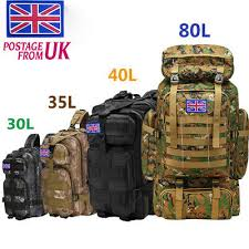 Military <b>Tactical Backpack</b> Rucksack Camping Trek Hiking Outdoor ...