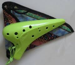 12 holes ocarina flute alto c legend of zelda tune bass musical instrument with ethnic style carry bag