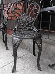 how to refinish antique wrought iron furniture antique rod iron patio