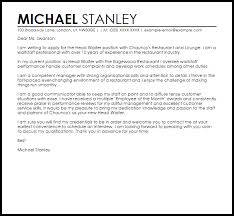 Good Cover Letter Example  Cover Letter Tip Cover Letters          Cover Letter Examples Waiter