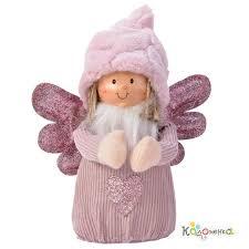 <b>Декоративная фигурка</b> Ангел Эшли 18 см в меховой шапочке ...