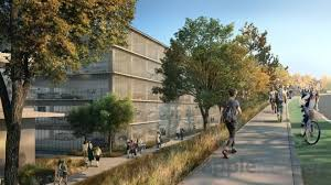 a third office building to the north of the creek will contribute another 84000 square feet of space in a smaller two story structure of a similar design apple new office design
