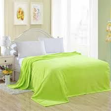 2019 Blanket <b>Apple Green Solid</b> Warm and Portable <b>Color</b> Bed ...