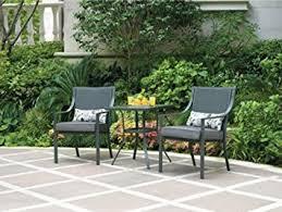 crossman piece outdoor bistro: alexandra square  piece outdoor bistro set grey with leaves