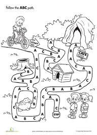 ABC Maze | Worksheet | Education.comPreschool Kindergarten The Alphabet Worksheets: ABC Maze