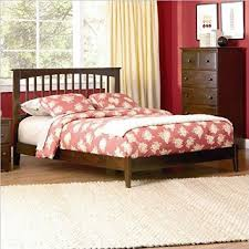 atlantic furniture brooklyn platform bed w trundle in antique walnut atlantic mission work table