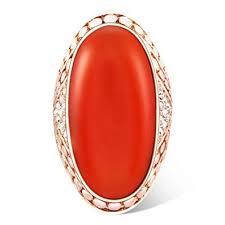 <b>Ajojewel</b> Luxury <b>Big</b> Opal Single <b>Stone</b> Orange Rings for Women ...