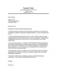 marketing cover letter sports marketing cover letter