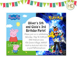 pokemon birthday party invitations templates pokemon birthday invitation template