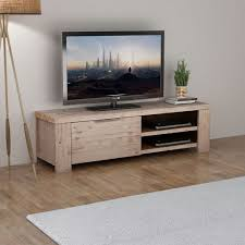 "vidaXL <b>TV Cabinet Solid Brushed</b> Acacia Wood 55""x15""x15.7""