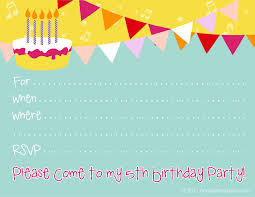 birthday party invite templates printable 16th birthday party invitations printable invite for a 5th birthday party