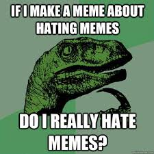 if i make a meme about hating memes do i really hate memes ... via Relatably.com