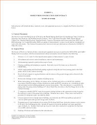 construction scope of work template org construction scope of work example