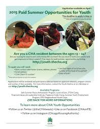 paid cha summer job opportunities the community beat cha 2015 paid summer youth opportunities