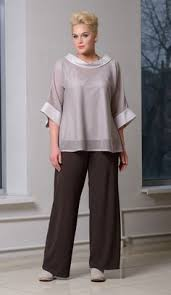 AMP1015 fashion <b>Gray</b> three piece <b>Chiffon mother of</b> the bride pants ...