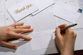 job interview thank you letter examples w writing greeting card close up of hands