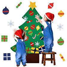 Outgeek Felt Tree, 3.2ft DIY Tree with <b>28 Pcs</b> Ornaments Wall <b>Decor</b> ...