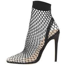 <b>ENMAYER 2019</b> Sexy Pointy Toe PVC Large Size Stilettos ...