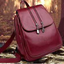Laptop Backpack Women <b>Leather Luxury Backpack</b> Women ...