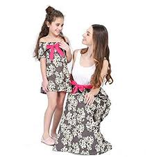 Bharat Ventures <b>Family Matching</b> Outfits Summer <b>Mother Daughter</b> ...
