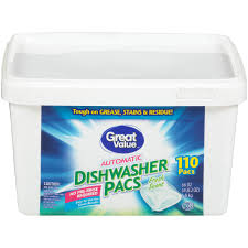 Great Value Automatic Dishwasher Pacs, Fresh <b>Scent</b>, <b>110</b> Count ...