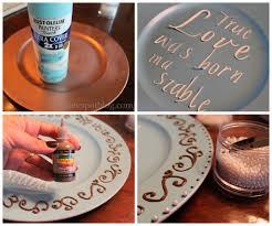 charger plates decorative: make a decorative winter platter howtomakeadecorativeplate make a decorative winter platter