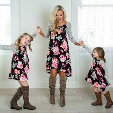 Mother And Daughter Matching Clothing <b>2 8T Floral</b> Dress Mom ...