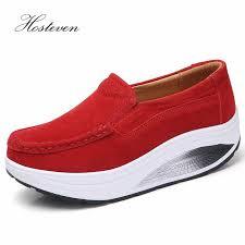 <b>Hosteven Women Shoes Sneaker</b> Flat Platform Moccasins Loafers ...