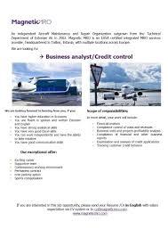cv keskus t ouml ouml pakkumine business analyst credit control toumloumlpakkumise number