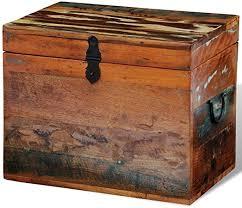 FZYHFA <b>Storage Trunk Solid</b> Recycled Wood, 39 x 28 x 31 cm (L x ...