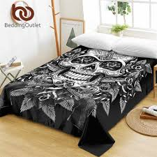 BeddingOutlet <b>Floral Skull</b> Bed Sheets One Piece Flowers <b>Vintage</b> ...