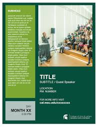 college of arts and letters michigan state university poster example of flyer 9