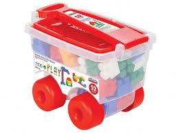 Купить Детские <b>Конструктор</b> с <b>тележкой Pilsan</b> Master Blocks (03 ...
