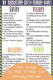 17 best ideas about long term goals happiness 37 incredibly easy family goals