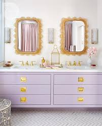 bath modern purple white purple violet gold bathroom fixtures bath gold leaf mirrors white