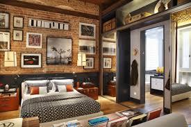 apartment cozy bedroom design: bedroom home apartment cozy bedroom exposed brick bedroom design brick
