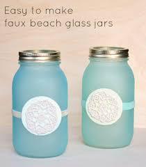 jar crafts home easy diy: cute diy mason jar ideas faux beach glass jars fun crafts creative room