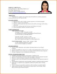 bartending resume templates resume templates resume for registered nurse no experience