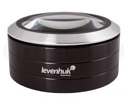 <b>Лупа Levenhuk Zeno 900</b>, 5x, 75 мм, 3 LED, металл