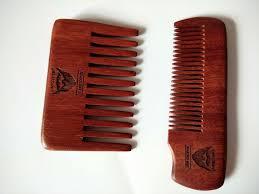 <b>2PCS</b> Handmade Red Comb Pocket Size <b>Wide Teeth</b> Beard Comb ...