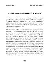 african american social science baseline essay dr john henrik clark   author clarke subject social science african history