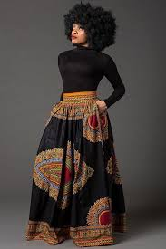 Black Dashiki <b>African</b> maxi <b>skirt</b>, <b>African</b> print <b>skirt for women</b>, Ankara ...
